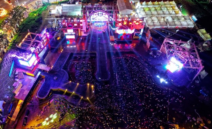 Los angeles festival drone photography