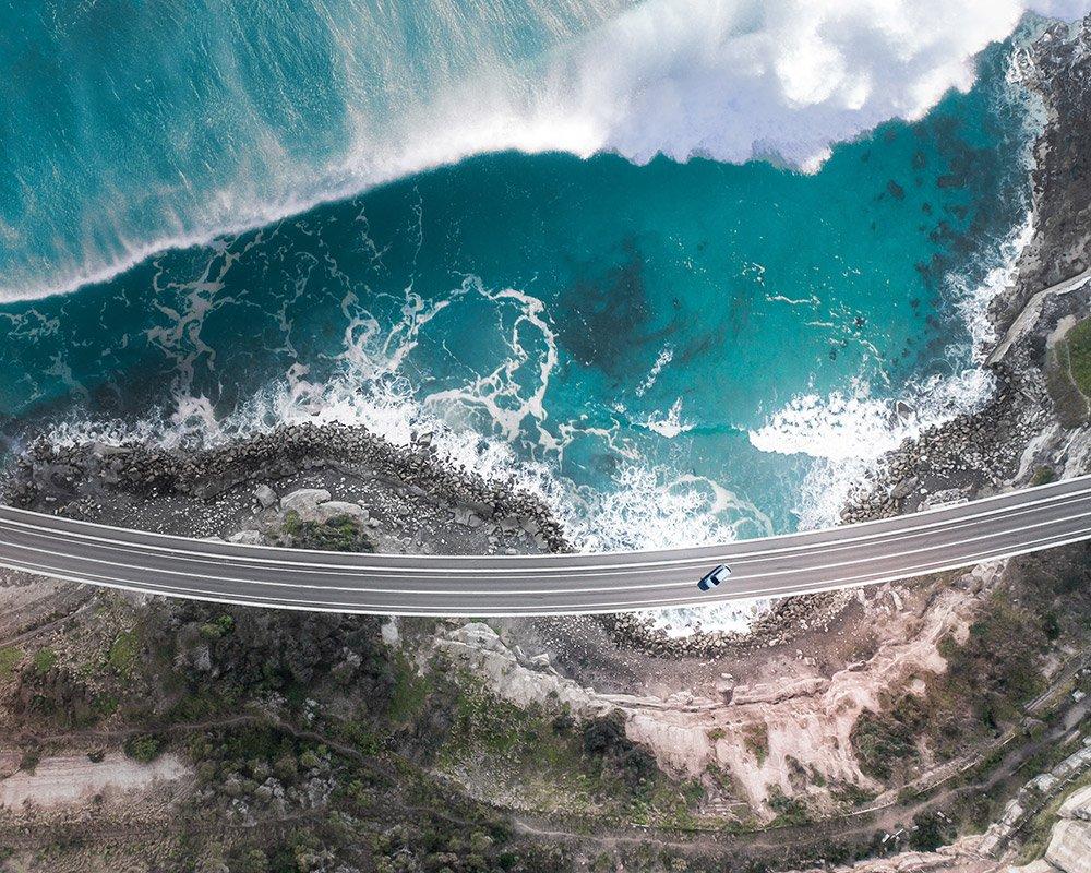 Drone ocean photo