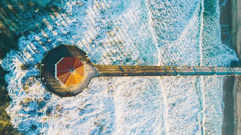 Manhattan Beach California Drone Photo