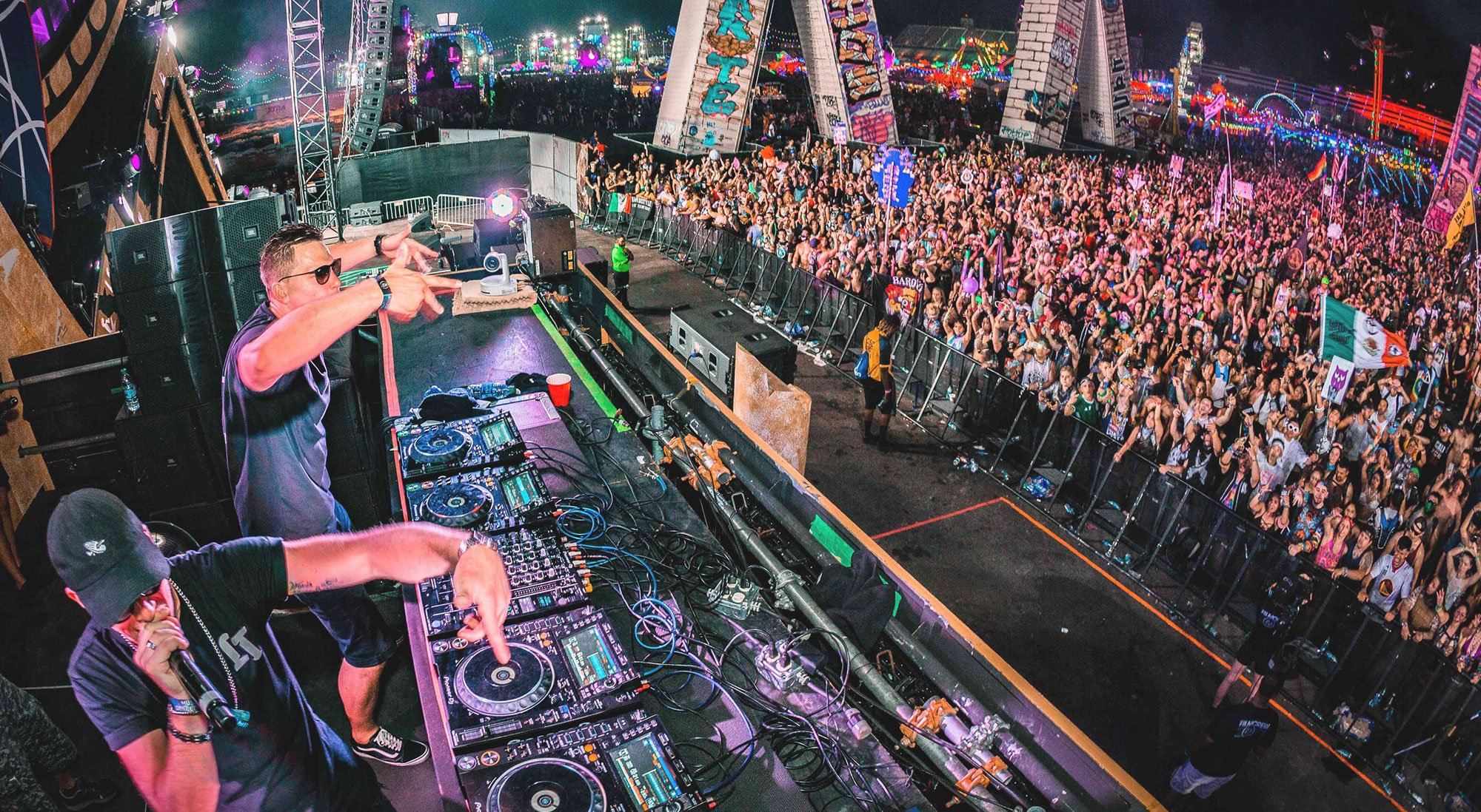 DJ Festival drone footage marketing