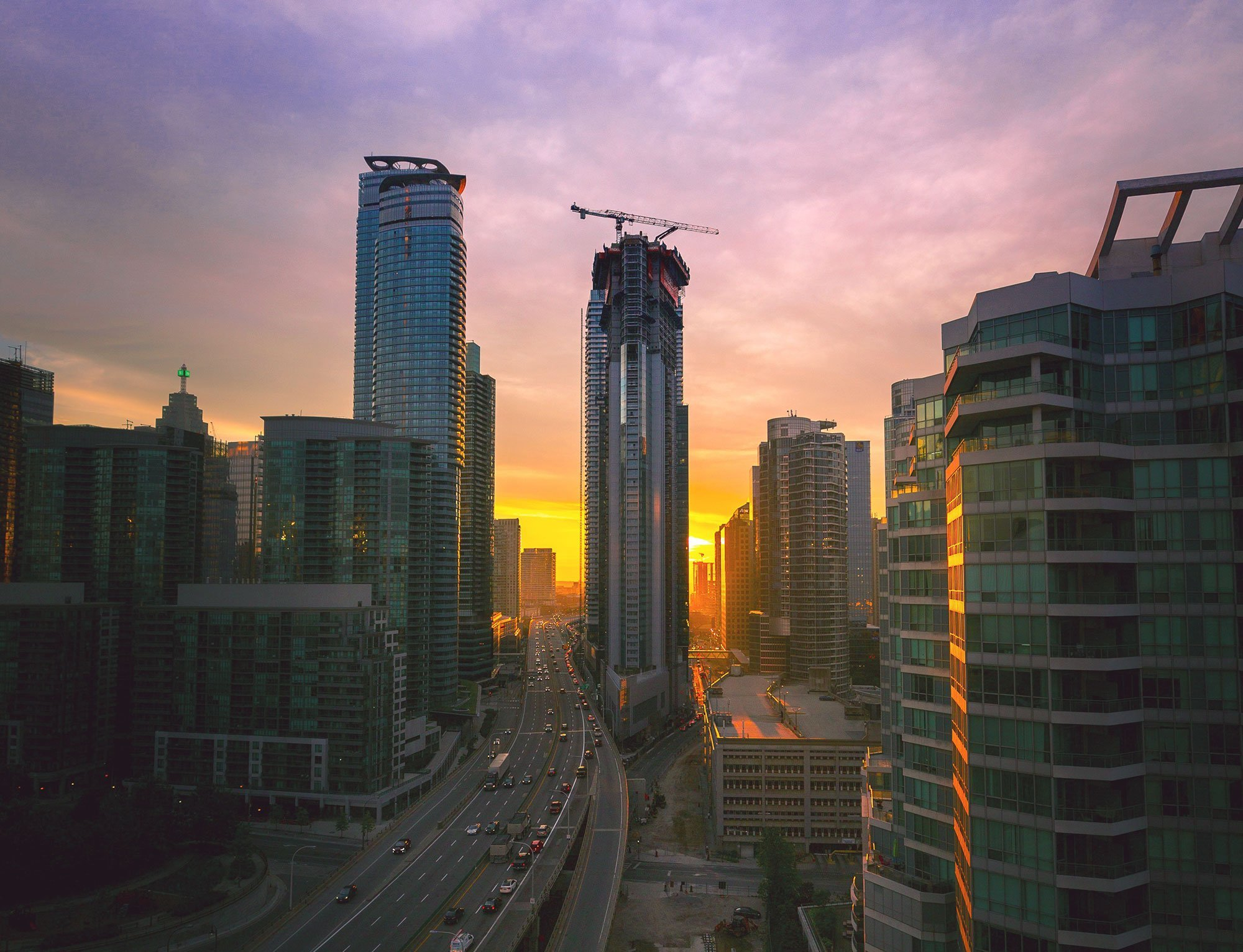 LA drone footage commercial construction development