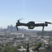 Drone flying over Los Angeles