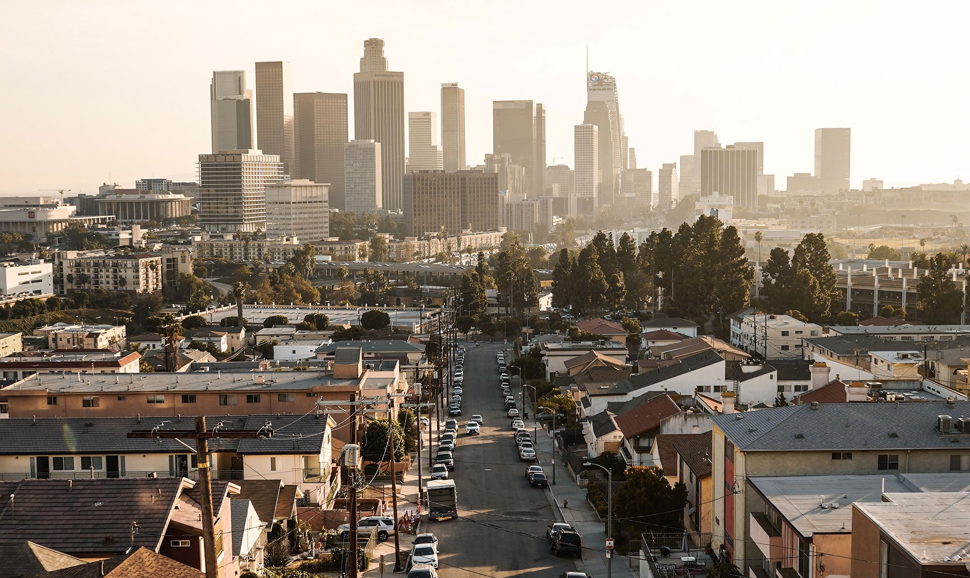 Los Angeles drone real estate photography
