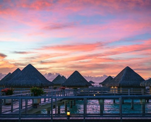 Luxury destination drone marketing