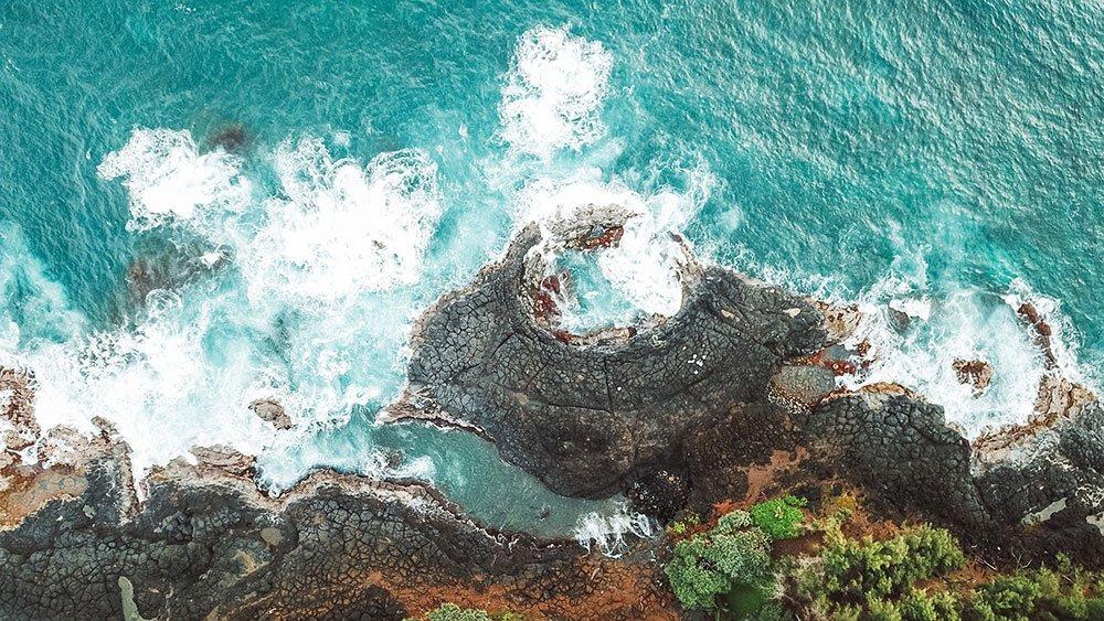 Coastal California ocean drone photo