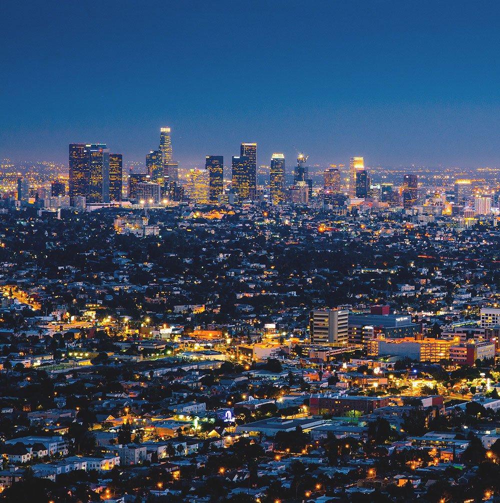 Overlooking Los Angeles, CA