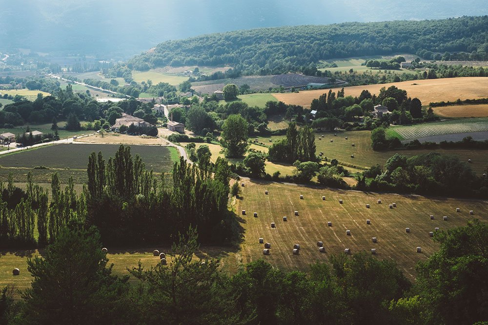 Drone farm shot